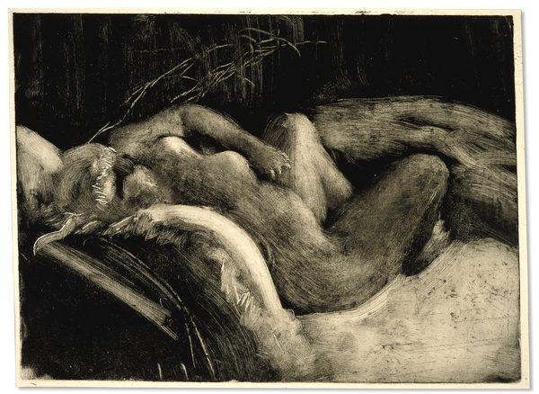 Degas - Sleep (1883-85). Monotype