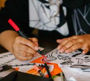 Friday art studio The Fine Art Room